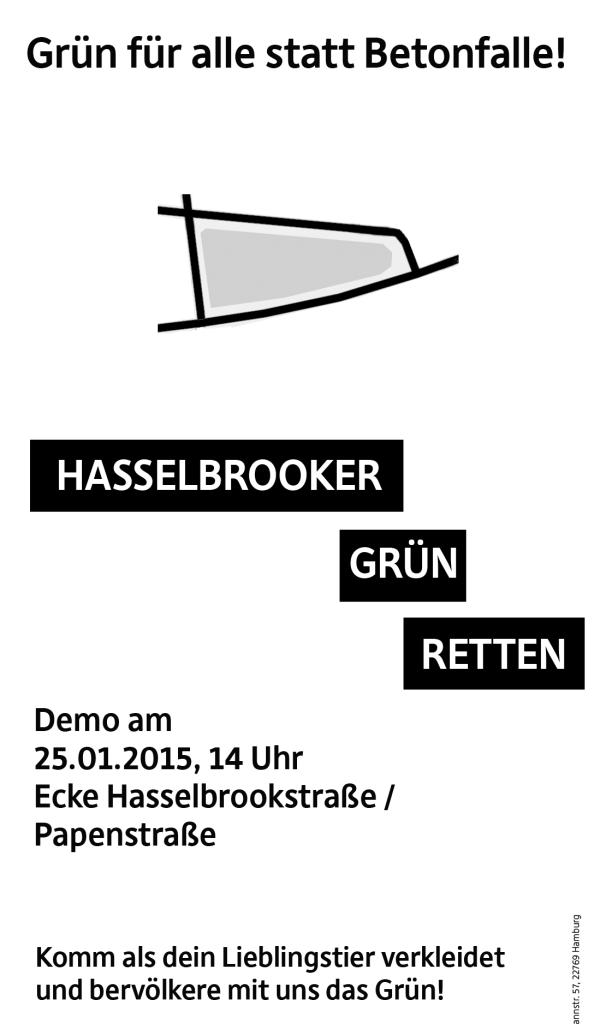 Fällt AUS! Hasselbrooker Grün für alle statt Betonfalle: Demo in Hamburg am 25.01.2015 14 Uhr Hasselbrookstraße/ Papenstraße