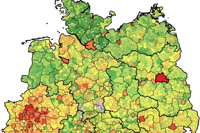 Hebesatz Grundsteuer B, Deutschland 2014
